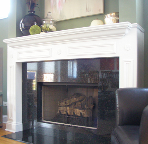 Creating a White Fireplace Mantel
