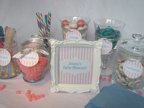 Candy Buffet for a Baby Shower