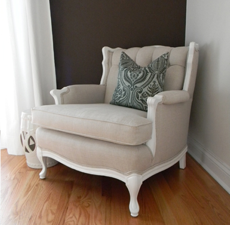 Vintage Chair Painted White