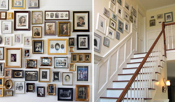Family Photo Gallery Walls