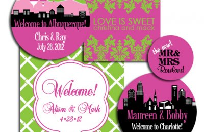 wedding welcome bag stickers