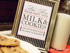 milk and cookies label