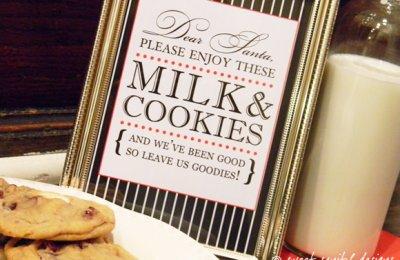milk and cookies label