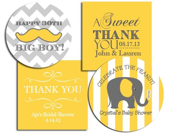 baby shower gift label