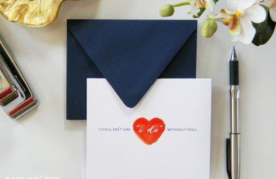 Bridesmaid note card
