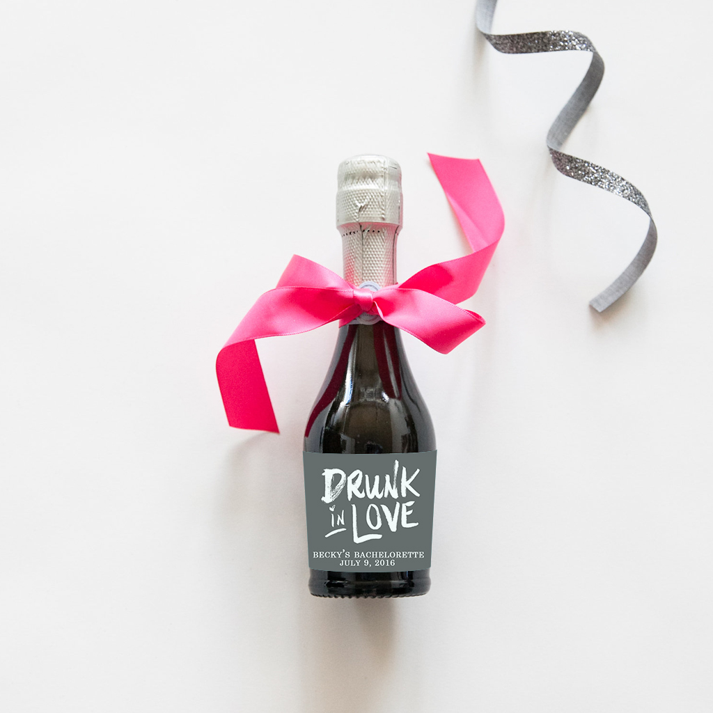 bachelorette mini bottle labels
