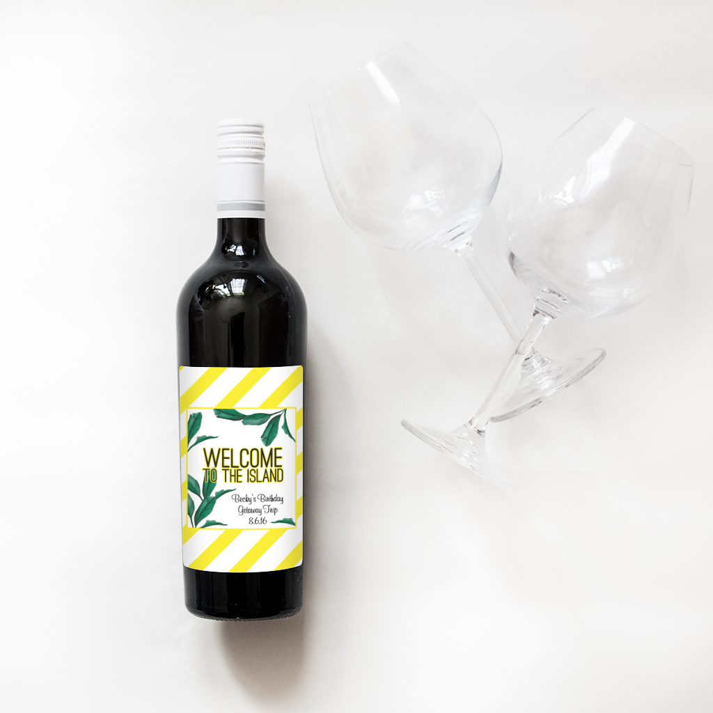 custom wine birthday labels