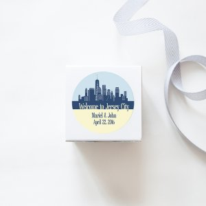 city skyline stickers
