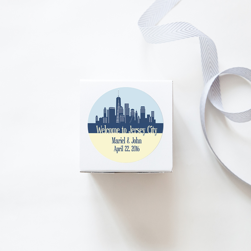 city skyline stickers