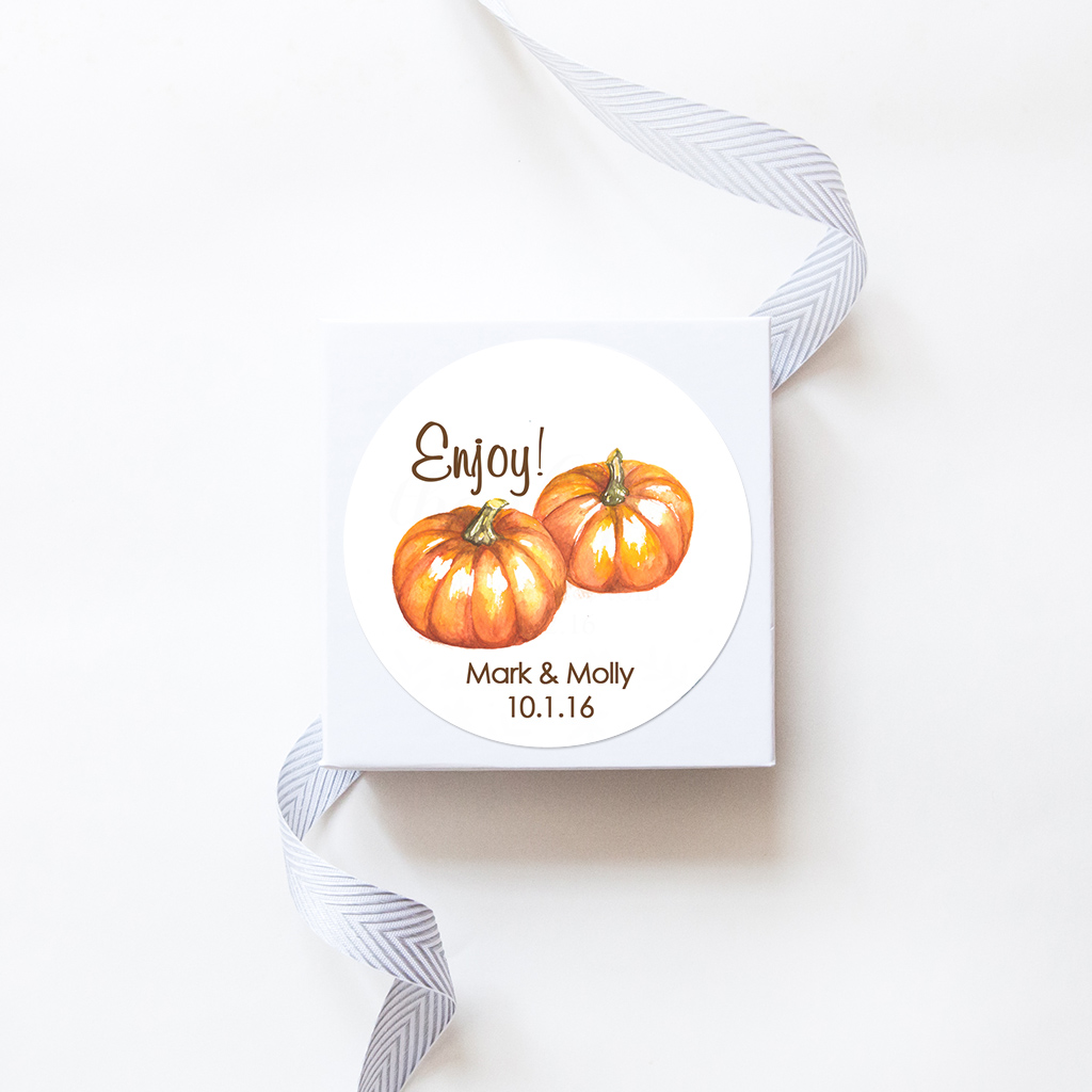 sticker_wedding_watercolorpumpkinbunch01