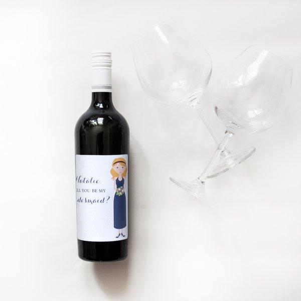 bridesmaid bottle label