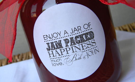 Wedding Favors Jam Jars